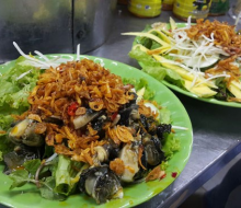 Da Nang medium-sized edible snail salad – snack of a strange taste for winter