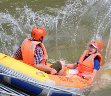 Riding the rapids in Hoa Phu Thanh